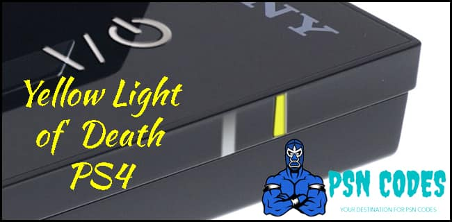 Yellow Light of Death PS4