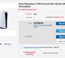 An eBay User is Selling Photos of the PS5 for the Bots Behind the Resale Purchases to Sting