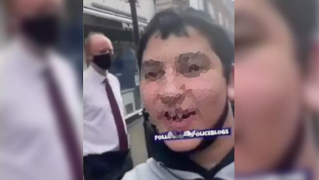 Chris Witty, UK Medical Director, harassed by a 15-year-old on the street.